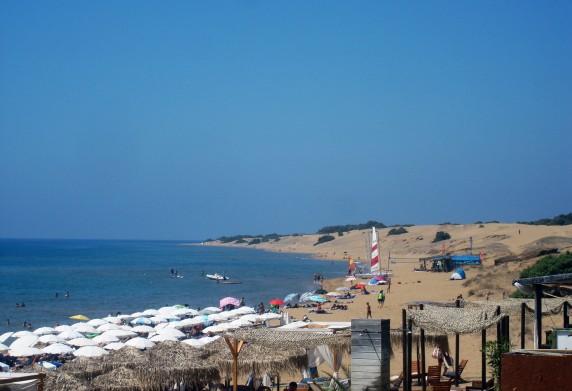 παραλία ισσος νότια κερκυρα